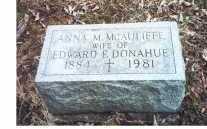 MCAULIFFE DONAHUE, ANNA M - Oneida County, New York | ANNA M MCAULIFFE DONAHUE - New York Gravestone Photos