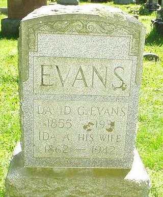 EVANS, IDA A. - Oneida County, New York   IDA A. EVANS - New York Gravestone Photos
