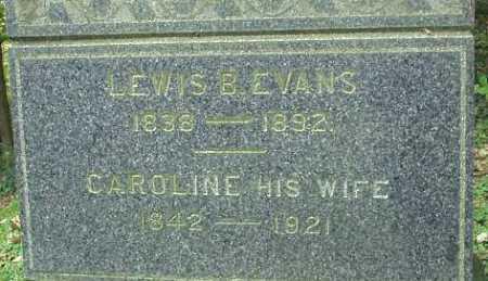 EVANS, CAROLINE - Oneida County, New York | CAROLINE EVANS - New York Gravestone Photos