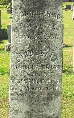 CLARK EWING, CORDELIA - Oneida County, New York | CORDELIA CLARK EWING - New York Gravestone Photos