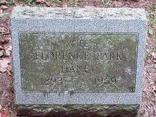 PARK HANEY, FLORENCE - Oneida County, New York | FLORENCE PARK HANEY - New York Gravestone Photos