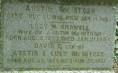 CROWELL MCNTOSH, LUCY W. - Oneida County, New York | LUCY W. CROWELL MCNTOSH - New York Gravestone Photos