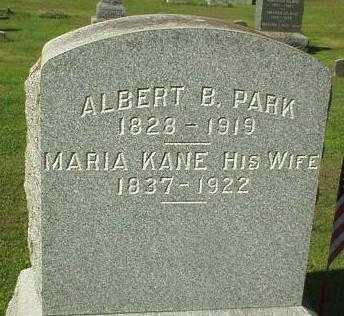KANE PARK, MARIA - Oneida County, New York | MARIA KANE PARK - New York Gravestone Photos