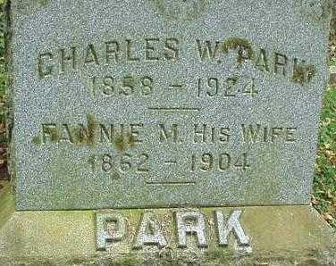 PARK, FANNIE M. - Oneida County, New York | FANNIE M. PARK - New York Gravestone Photos