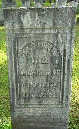 POWELL, MARY - Oneida County, New York | MARY POWELL - New York Gravestone Photos