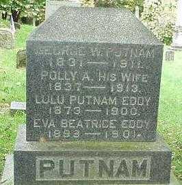 PUTNAM, POLLY A. - Oneida County, New York | POLLY A. PUTNAM - New York Gravestone Photos