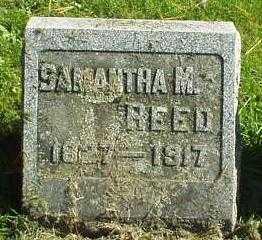 REED, SAMANTHA M. - Oneida County, New York   SAMANTHA M. REED - New York Gravestone Photos