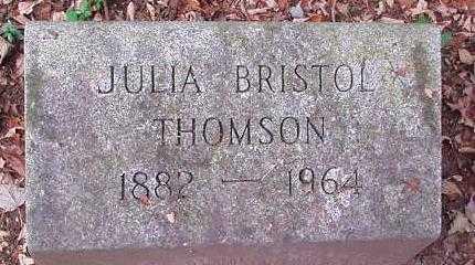 BRISTOL THOMSON, JULIA - Oneida County, New York | JULIA BRISTOL THOMSON - New York Gravestone Photos