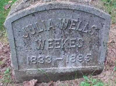 WELLS WEEKES, JULIA - Oneida County, New York | JULIA WELLS WEEKES - New York Gravestone Photos