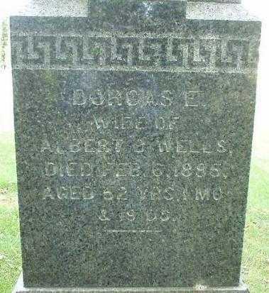 WELLS, DORCAS E. - Oneida County, New York   DORCAS E. WELLS - New York Gravestone Photos