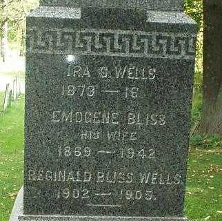 WELLS, REGINALD BLISS - Oneida County, New York | REGINALD BLISS WELLS - New York Gravestone Photos