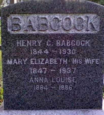 BABCOCK, HENRY G. - Onondaga County, New York | HENRY G. BABCOCK - New York Gravestone Photos