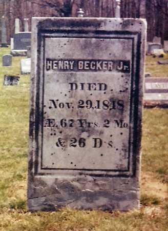 BECKER, HENRY, JR. - Onondaga County, New York | HENRY, JR. BECKER - New York Gravestone Photos