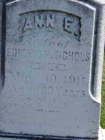NICHOLS, ANN E. - Ontario County, New York   ANN E. NICHOLS - New York Gravestone Photos