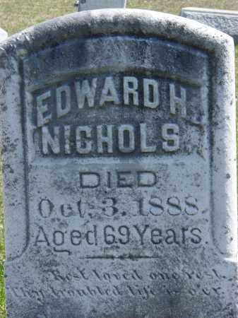 NICHOLS, EDWARD H. - Ontario County, New York | EDWARD H. NICHOLS - New York Gravestone Photos