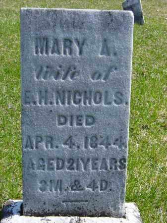 NICHOLS, MARY A. - Ontario County, New York   MARY A. NICHOLS - New York Gravestone Photos