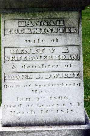 DWIGHT SCHERMERHORN, HANNAH BUCKMINSTER - Ontario County, New York | HANNAH BUCKMINSTER DWIGHT SCHERMERHORN - New York Gravestone Photos