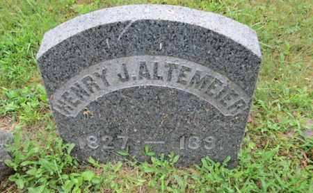 ALTEMEIER, HENRY J. - Orange County, New York | HENRY J. ALTEMEIER - New York Gravestone Photos