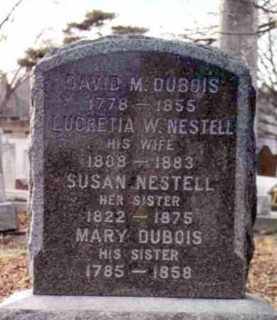 NESTELL DUBOIS, LUCRETIA W. - Orange County, New York | LUCRETIA W. NESTELL DUBOIS - New York Gravestone Photos