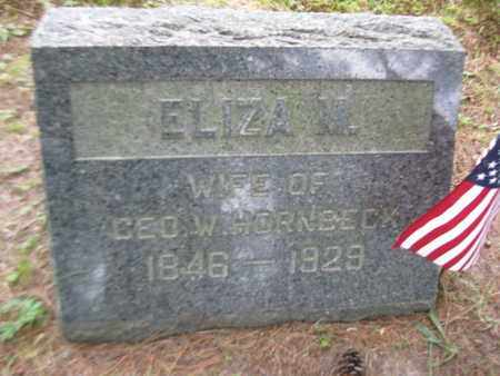 HORNBECK, ELIZA M. - Orange County, New York | ELIZA M. HORNBECK - New York Gravestone Photos
