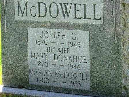 MCDOWELL, MARIAN - Orange County, New York | MARIAN MCDOWELL - New York Gravestone Photos