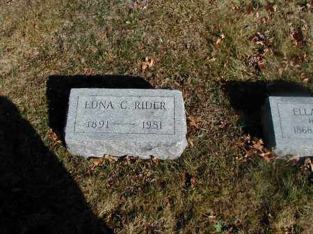 RIDER, EDNA C. - Orange County, New York | EDNA C. RIDER - New York Gravestone Photos