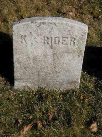 RIDER, KING - Orange County, New York | KING RIDER - New York Gravestone Photos