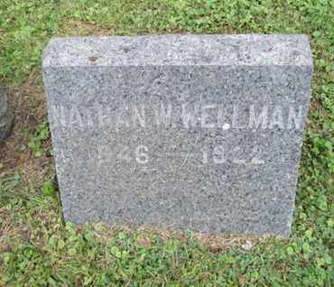 WELLMAN, NATHAN W. - Orange County, New York | NATHAN W. WELLMAN - New York Gravestone Photos