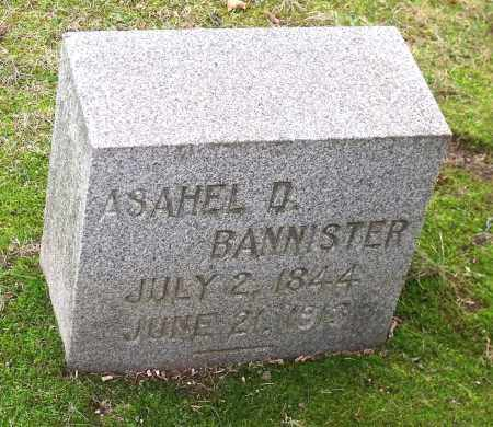 BANNISTER, ASAHEL D. - Orleans County, New York | ASAHEL D. BANNISTER - New York Gravestone Photos