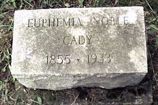 CADY, EUPHEMIA - Orleans County, New York | EUPHEMIA CADY - New York Gravestone Photos
