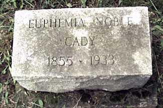 WATT CADY, EUPHEMIA - Orleans County, New York | EUPHEMIA WATT CADY - New York Gravestone Photos