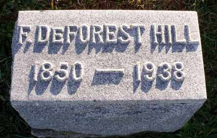 HILL, FRANK DEFOREST - Orleans County, New York | FRANK DEFOREST HILL - New York Gravestone Photos
