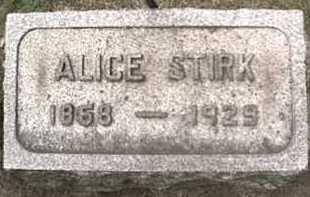 CURRAN STIRK, ALICE - Orleans County, New York | ALICE CURRAN STIRK - New York Gravestone Photos