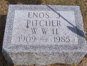 PITCHER, ENOS J - Oswego County, New York | ENOS J PITCHER - New York Gravestone Photos