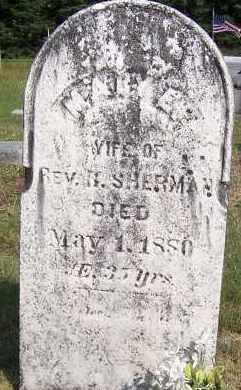 SHERMAN, MARY E. - Oswego County, New York   MARY E. SHERMAN - New York Gravestone Photos