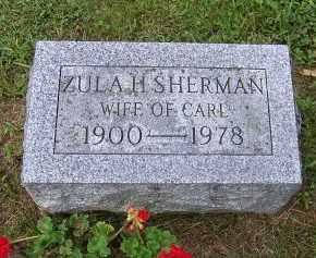 SHERMAN, ZULA H. - Oswego County, New York | ZULA H. SHERMAN - New York Gravestone Photos