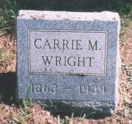 WRIGHT, CARRIE M. - Oswego County, New York | CARRIE M. WRIGHT - New York Gravestone Photos