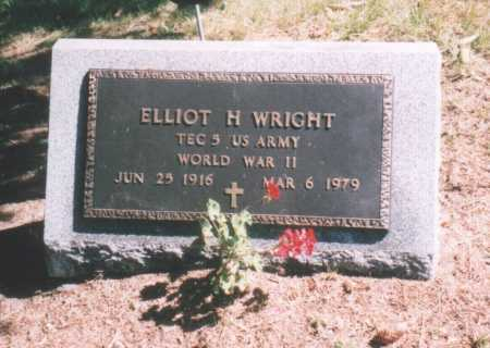 WRIGHT (WWII), ELLIOT HALE - Oswego County, New York | ELLIOT HALE WRIGHT (WWII) - New York Gravestone Photos