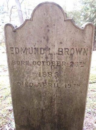 BROWN, EDMUND L - Otsego County, New York | EDMUND L BROWN - New York Gravestone Photos