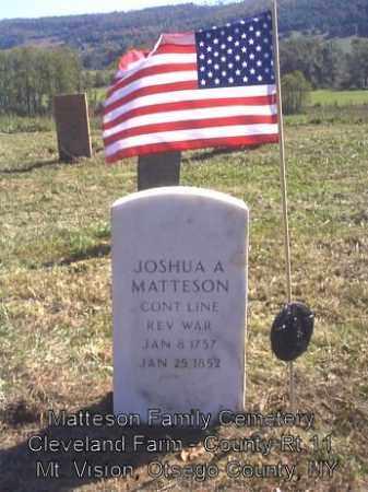 MATTESON, JOSHUA A - Otsego County, New York   JOSHUA A MATTESON - New York Gravestone Photos