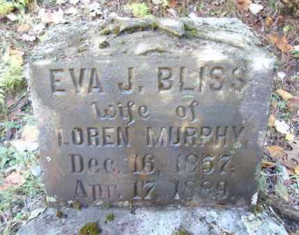 BLISS MURPHY, EVA J - Otsego County, New York | EVA J BLISS MURPHY - New York Gravestone Photos