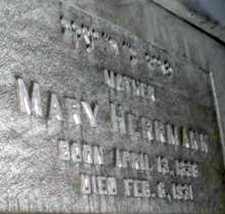HERRMANN, MARY - Queens County, New York | MARY HERRMANN - New York Gravestone Photos