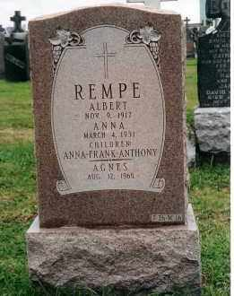 KREWET REMPE, ANNA - Queens County, New York | ANNA KREWET REMPE - New York Gravestone Photos