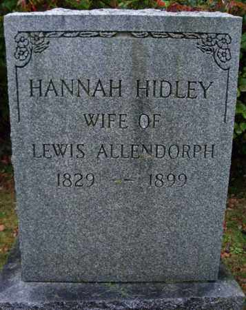 ALLENDORPH, HANNAH - Rensselaer County, New York | HANNAH ALLENDORPH - New York Gravestone Photos