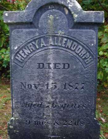 ALLENDORPH, HENRY A - Rensselaer County, New York   HENRY A ALLENDORPH - New York Gravestone Photos