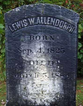 ALLENDORPH, LEWIS W - Rensselaer County, New York | LEWIS W ALLENDORPH - New York Gravestone Photos