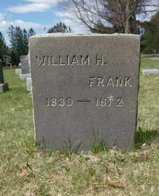 FRANK, WILLIAM H - Rensselaer County, New York   WILLIAM H FRANK - New York Gravestone Photos