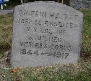 HAIGHT, GRIFFIN - Rensselaer County, New York | GRIFFIN HAIGHT - New York Gravestone Photos