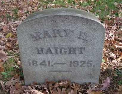 HAIGHT, MARY E - Rensselaer County, New York | MARY E HAIGHT - New York Gravestone Photos