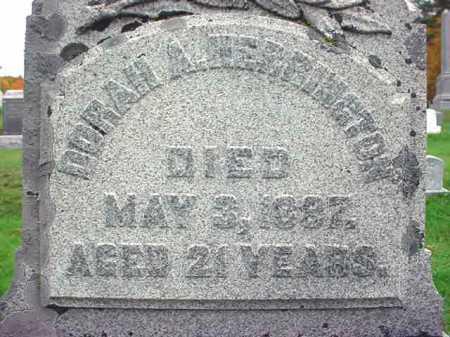 HERRINGTON, DORAH A - Rensselaer County, New York   DORAH A HERRINGTON - New York Gravestone Photos
